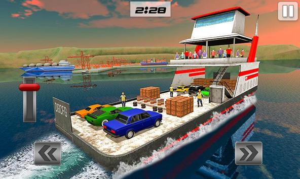 Груз корабль имитатор город грузовой транспорт 3D постер