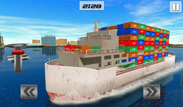 Груз корабль имитатор город грузовой транспорт 3D скриншот 13