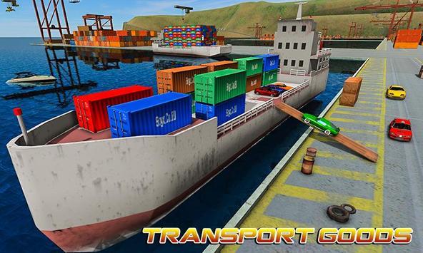 Груз корабль имитатор город грузовой транспорт 3D скриншот 4