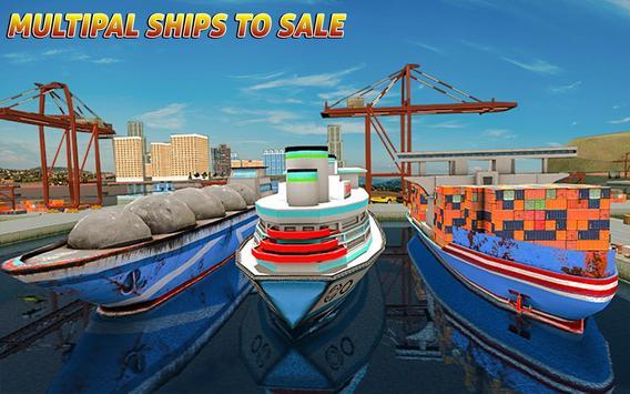Груз корабль имитатор город грузовой транспорт 3D скриншот 6