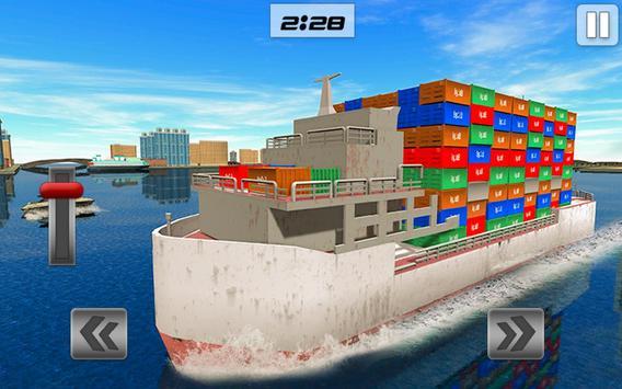 Груз корабль имитатор город грузовой транспорт 3D скриншот 8