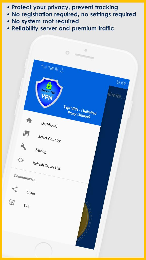 Tapi VPN Free Unlimited: Fast Server Proxy Unblock for