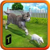 Crazy Cat vs. Mouse 3D icon