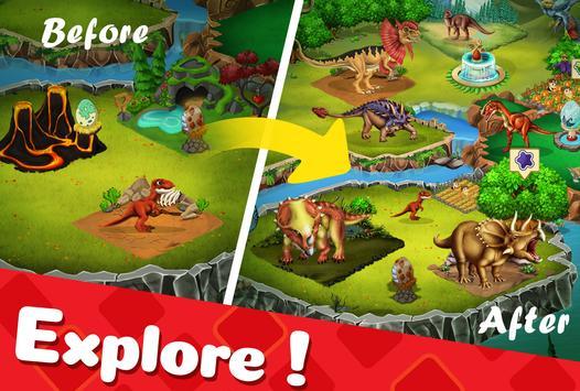 DINO WORLD - Jurassic dinosaur game captura de pantalla 9