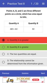 GRE Math Test screenshot 1