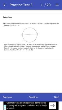 GRE Math Test screenshot 2