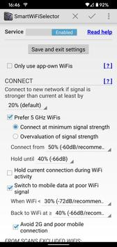 Smart WiFi Selector: connects to strongest WiFi постер