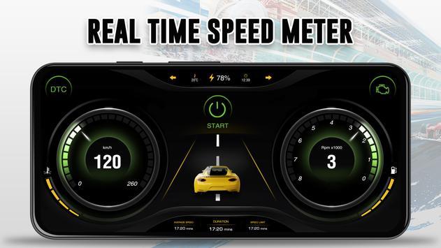 GPS Speedometer: Car Dashboard OBD2 Speed Limit screenshot 4