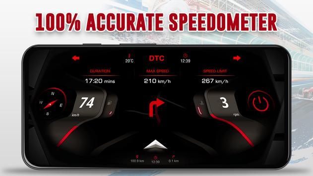 GPS Speedometer: Car Dashboard OBD2 Speed Limit screenshot 1