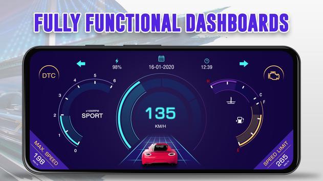 GPS Speedometer: Car Dashboard OBD2 Speed Limit screenshot 2