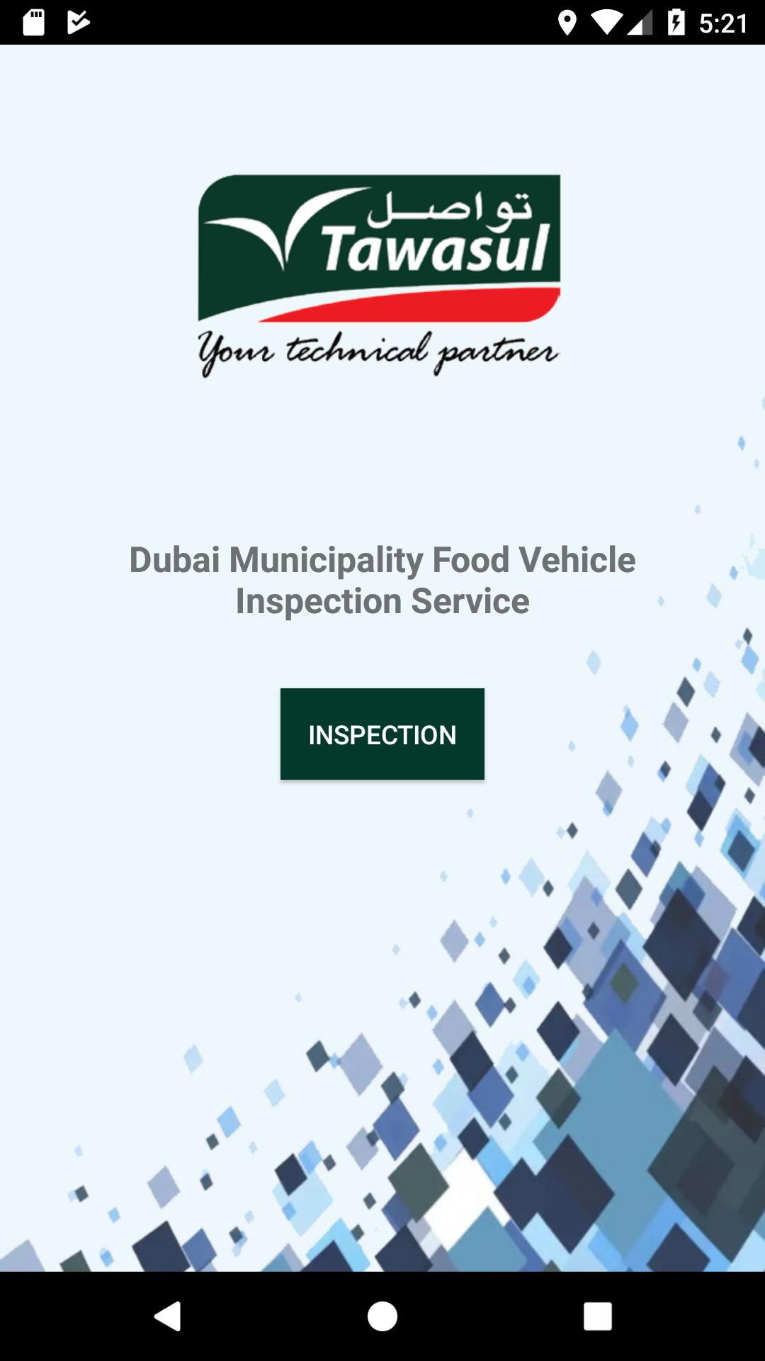 Dubai Municipality Food Vehicle Inspection for Android - APK