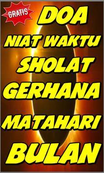Niat Doa Waktu Sholat Gerhana Matahari & Bulan poster