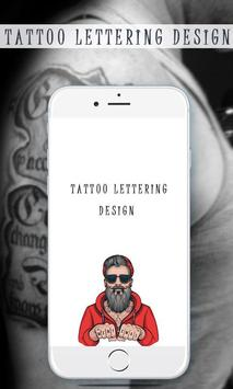 Tattoo Lettering Design poster