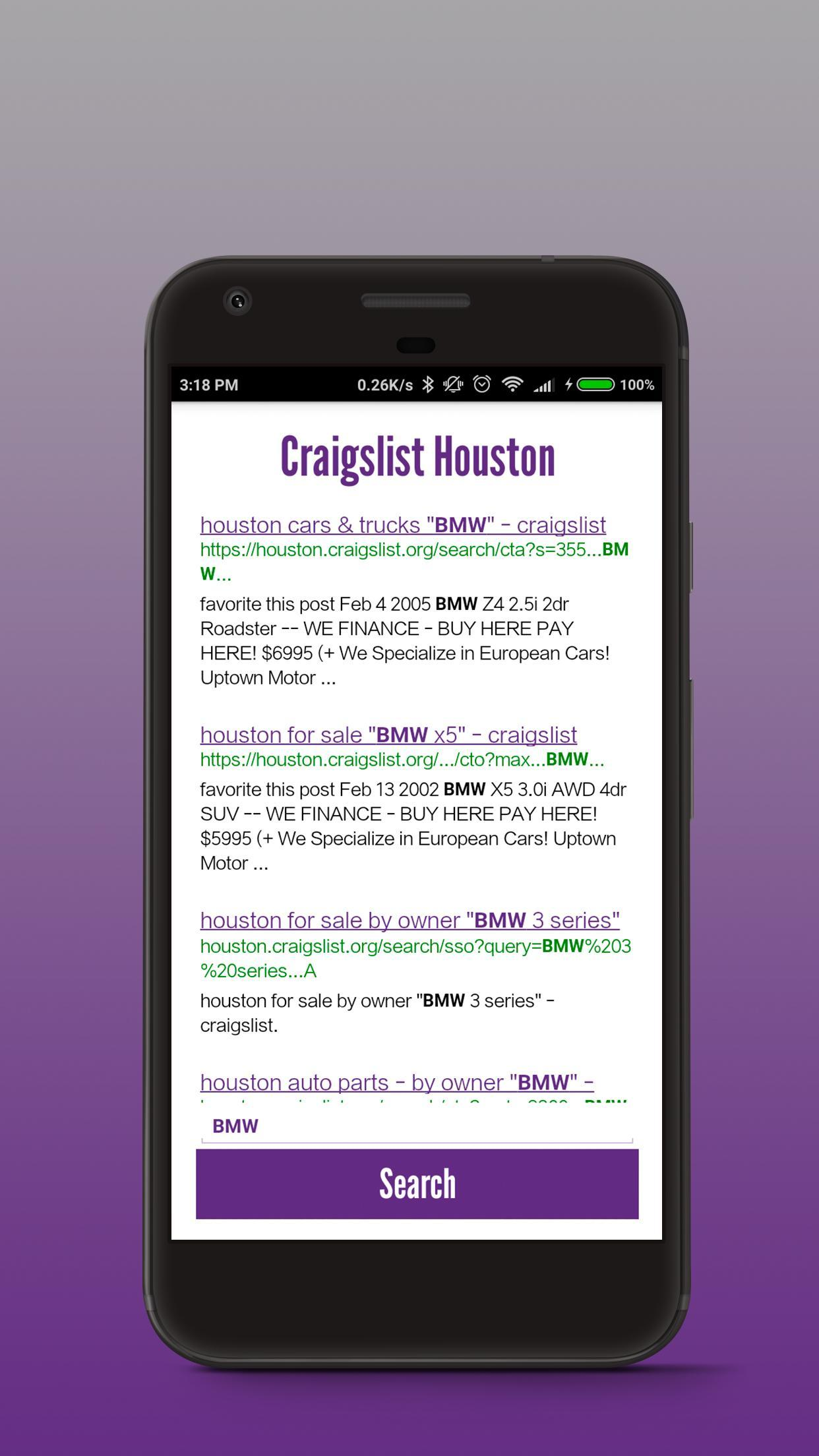 Craigslist Houston: Search Engine for Android - APK Download