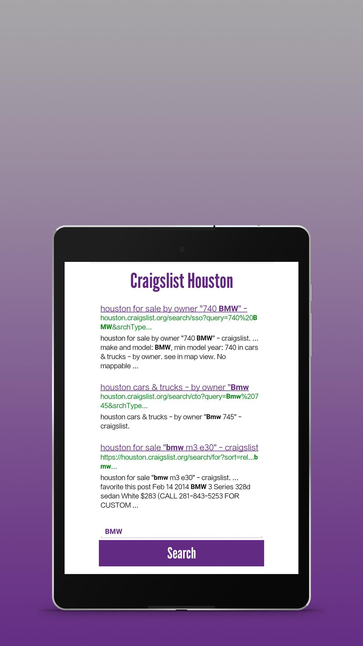 Craigslist Houston Cars And Trucks For Sale By Owner >> Craigslist Houston Search Engine For Android Apk Download