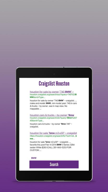 Craigslist Houston Search Engine For Android Apk Download