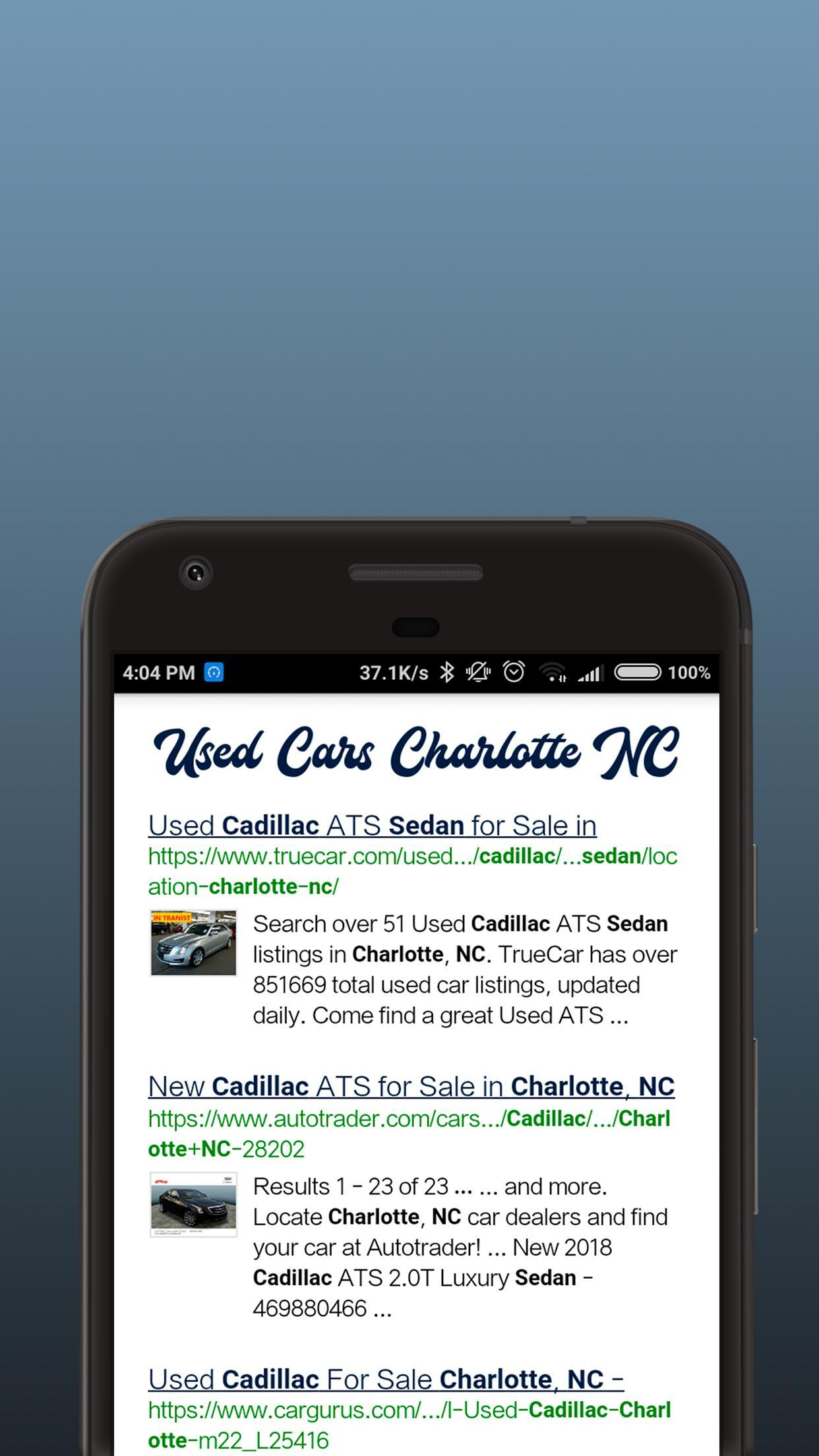 Used Car Dealerships In Charlotte Nc >> Used Cars Charlotte Nc For Android Apk Download