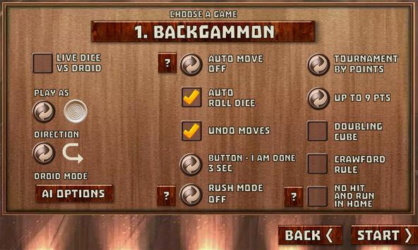 Backgammon Pack : 18 Games