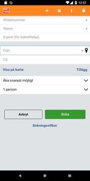 Taxibokning screenshot 1