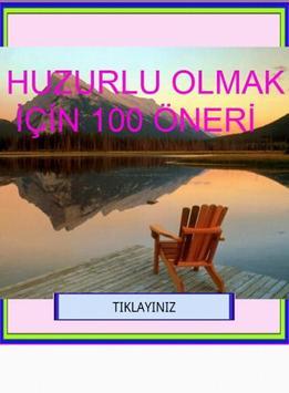HUZURLU OLMAK İÇİN 100 ÖNERİ poster