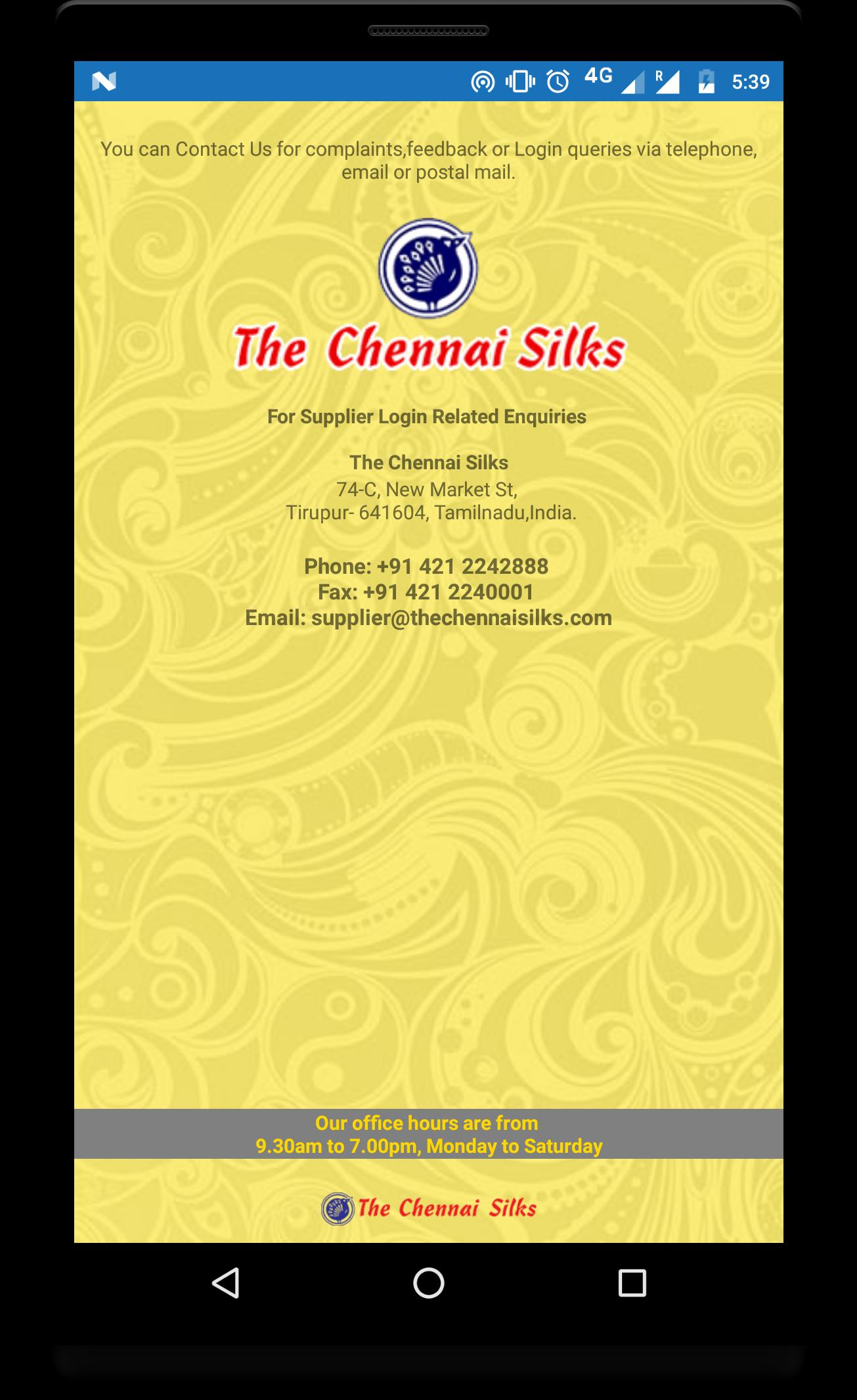 THE CHENNAI SILKS - SUPPLIER for Android - APK Download