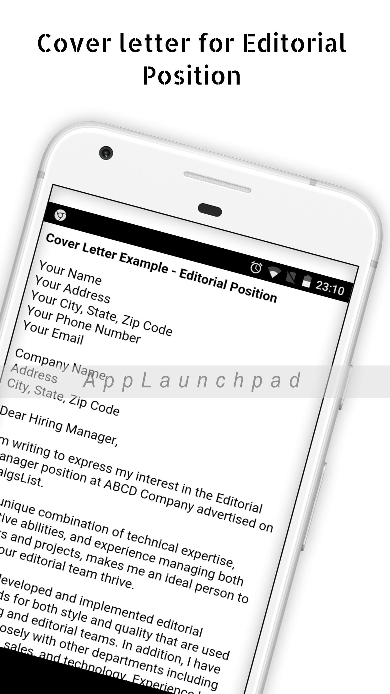 Cover letter samples for Android - APK Download