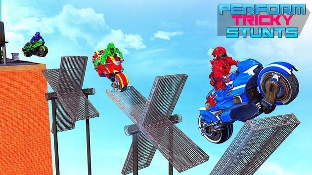 Police Robot Bike Stunt : Mega Ramp Bike Game 2021 screenshot 3
