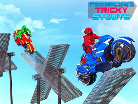 Police Robot Bike Stunt : Mega Ramp Bike Game 2021 screenshot 11