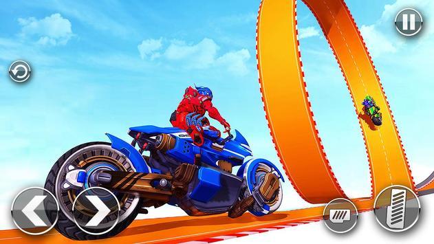 Police Robot Bike Stunt : Mega Ramp Bike Game 2021 screenshot 1
