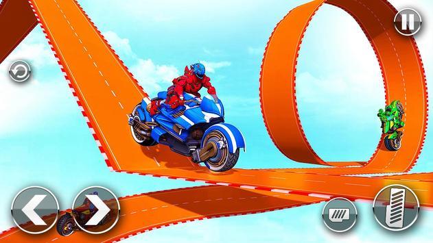 Police Robot Bike Stunt : Mega Ramp Bike Game 2021 screenshot 2