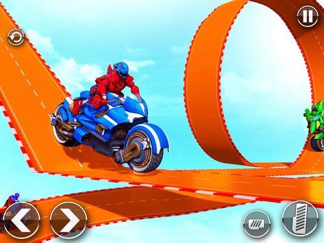 Police Robot Bike Stunt : Mega Ramp Bike Game 2021 screenshot 6