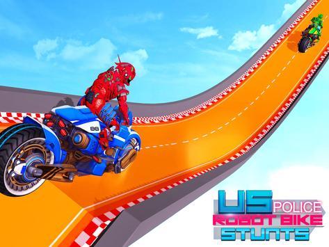 Police Robot Bike Stunt : Mega Ramp Bike Game 2021 screenshot 8