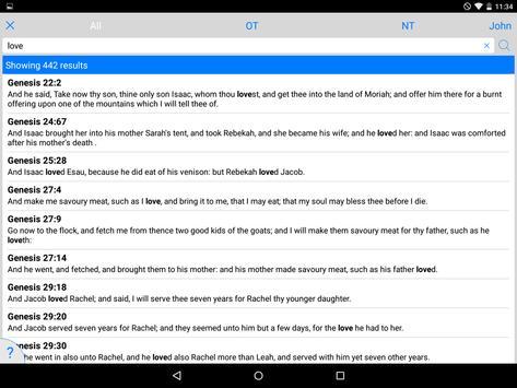 Tecarta Bible screenshot 11