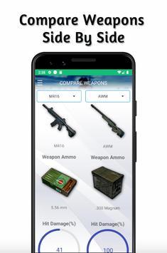 Weapons PUBG Stats Guide - Compare Guns screenshot 1