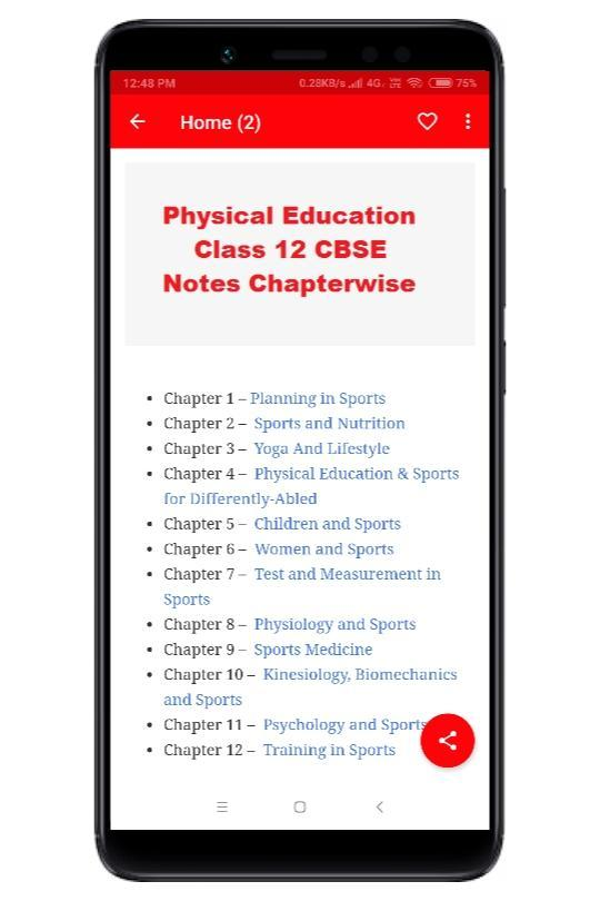 Physical Education Class 12 Notes CBSE for Android - APK Download