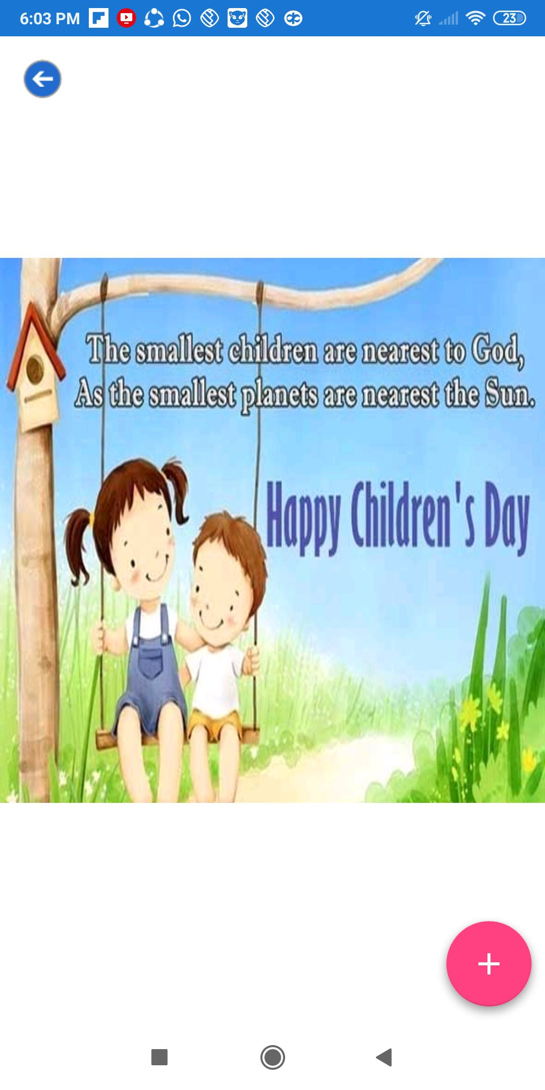 Happy Children Day: Greeting, Wishes, Quotes, GIF for Android - APK