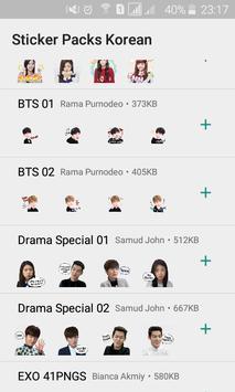 Sticker for Whatsapp (Korean Idol Theme) K-Pop screenshot 3
