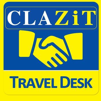 CLAZiT Car Rental Travel Desk poster
