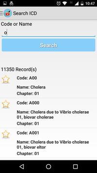 ICD 10 Codes screenshot 2