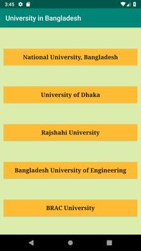 University in Bangladesh poster
