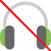 Earphone mode off icon