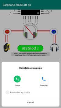 Earphone mode off screenshot 4