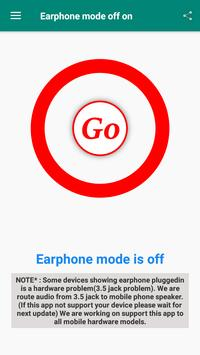 Earphone mode off poster