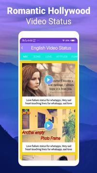 English Video Songs Clip Status Latest Collection screenshot 10