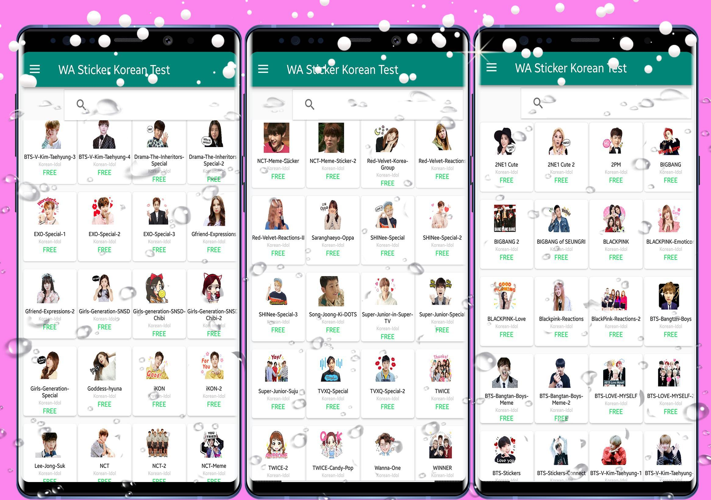 WAStickerApps Korean Idol Sticker for WhatsApp for Android