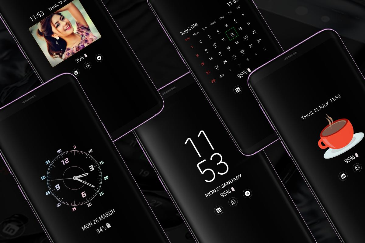 ALWAYS ON DISPLAY : SUPER AMOLED & PICTURE CLOCK for Android - APK