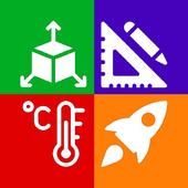 Einheitenumrechner  All-in-One-Umrechnungswerkzeug Zeichen