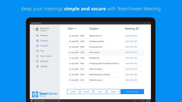 TeamViewer Meeting imagem de tela 4