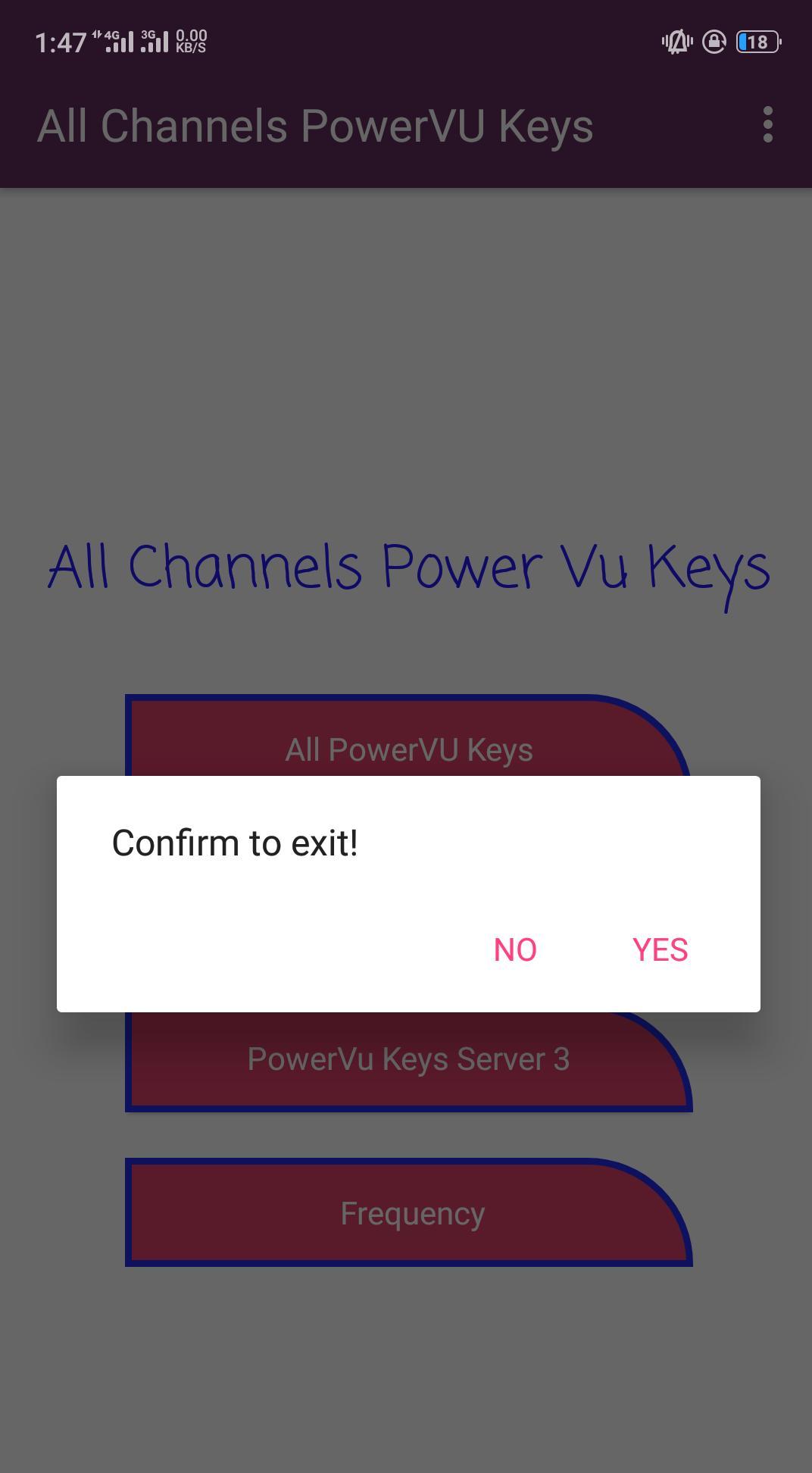 New Powervu Keys