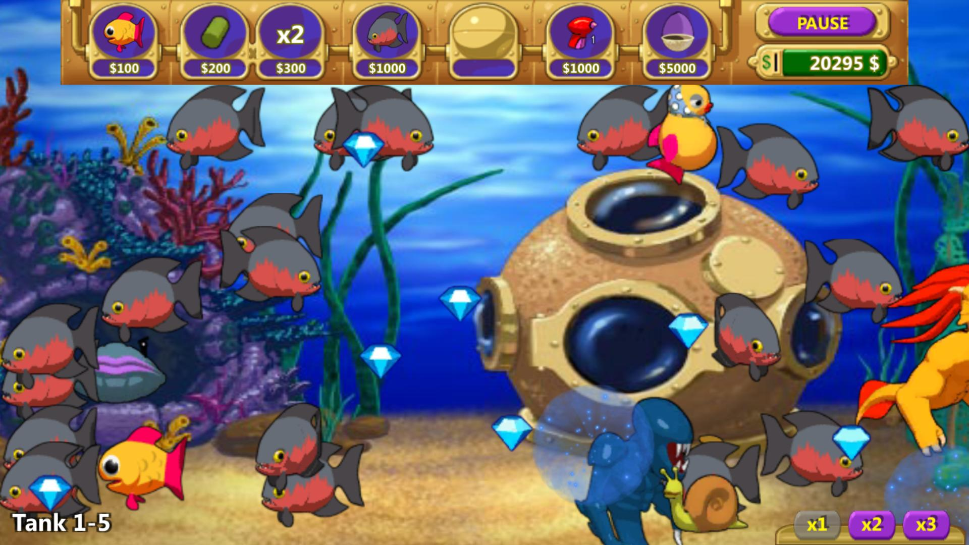 Insane Aquarium Deluxe Feed Fishes Fight Alien For Android Apk Download